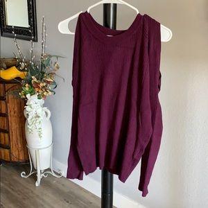 Topshop cold shoulder knit top